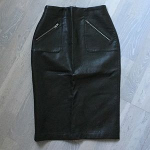 Zara Faux Skirt with Zipper Detail.